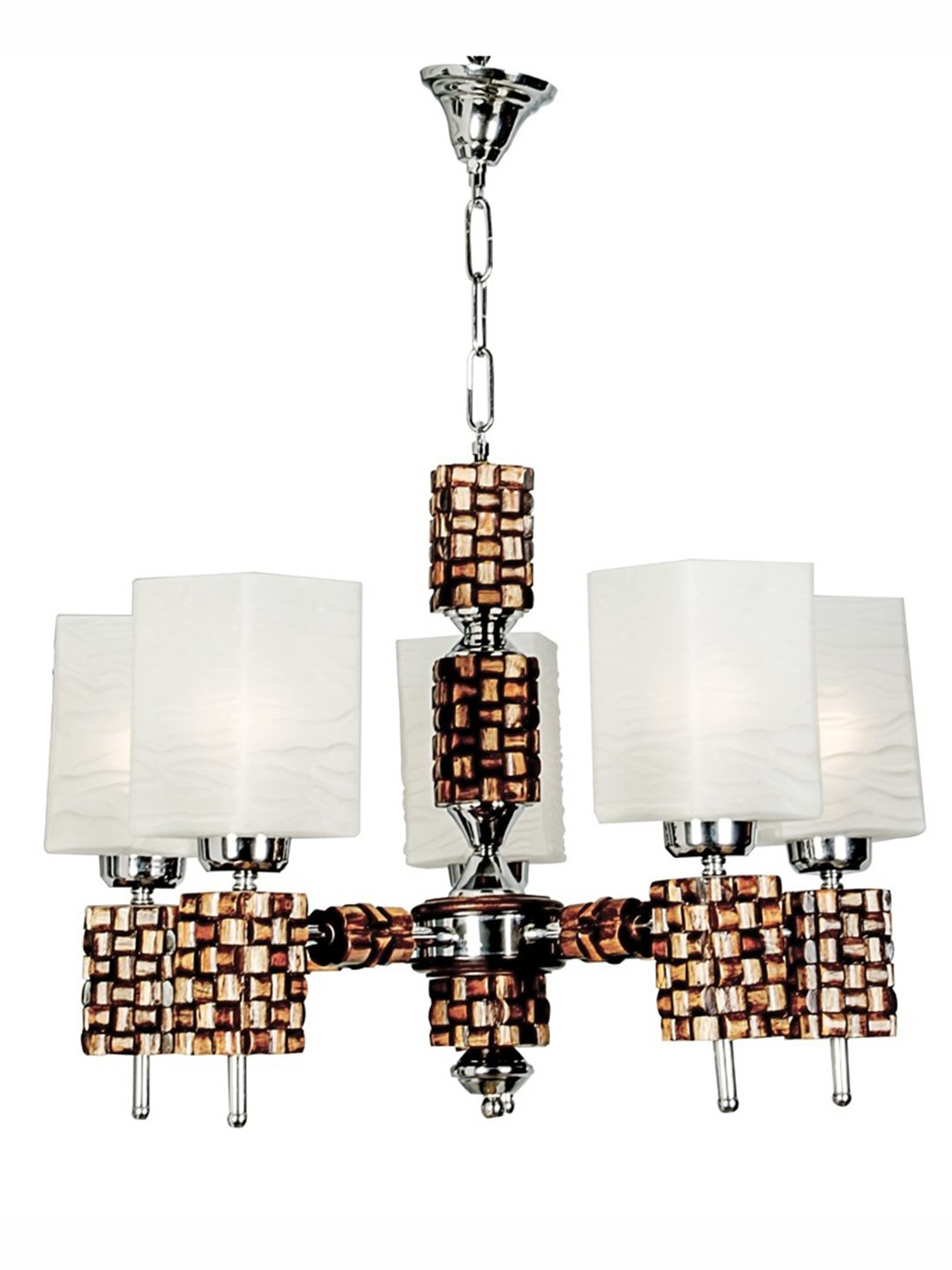 Rolex Square Wooden Chandelier