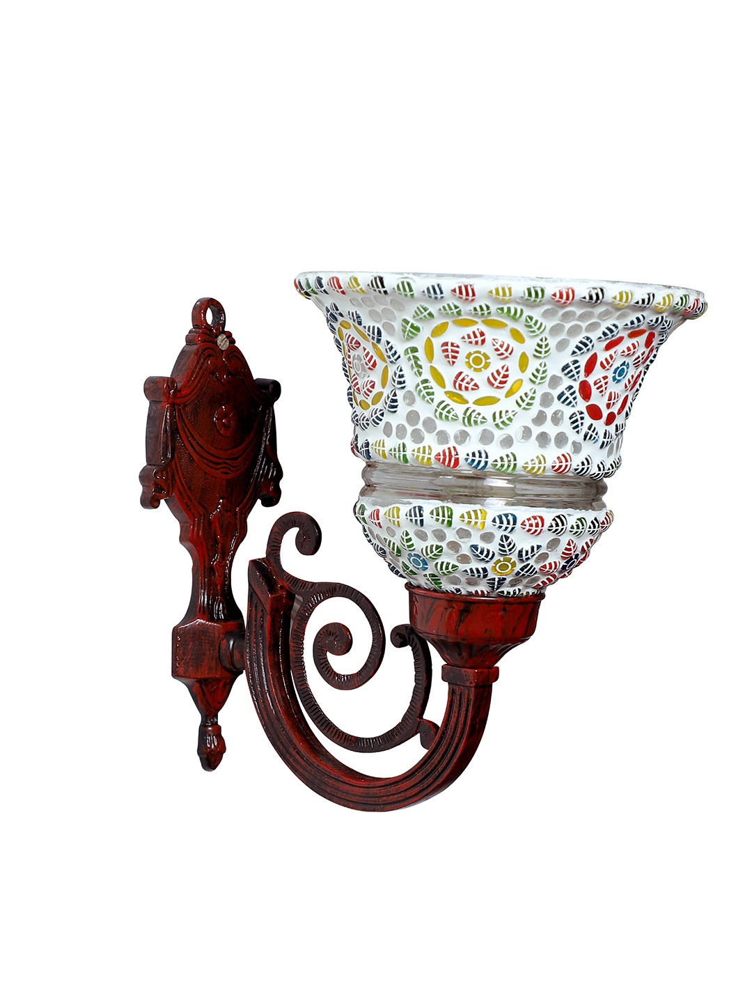 Taj Red Aluminum and Mosaic Glass 1 Light Wall Sconce