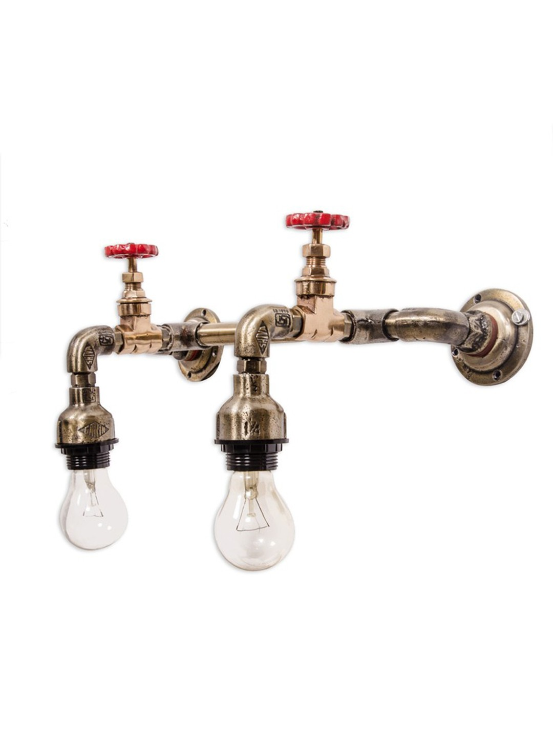 Industrial Pipe vanity double wall sconce
