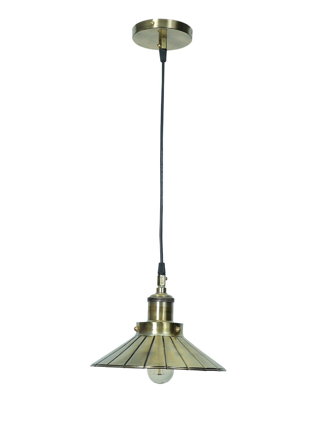 Antique Brass Finished Umbrella Pendant Light