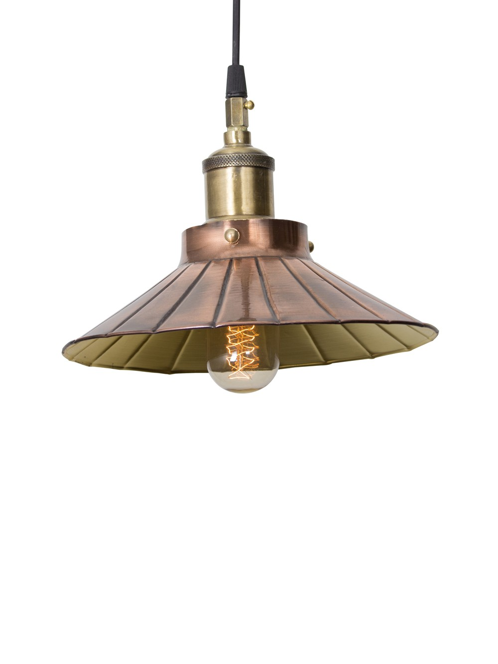 Copper Umbrella Pendant Light