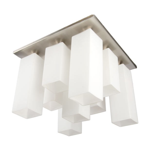 W107 SS 9 Light Flush Chandelier